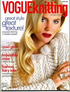 Vogue Knitting Magazine - Holiday the cowl Knitting Designs, Knitting Patterns Free, Knit Patterns, Free Knitting, Knitting Projects, Knitting Ideas, Crochet Book Cover, Crochet Books, Knit Crochet