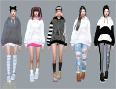 SIMS4 Marigold: Hoodie for female