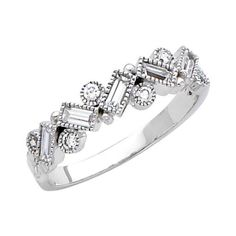 14K White Gold Round-cut CZ Cubic Zirconia Fancy Ring Band - Size 8.5 Has :               (1)       Good Reviews From Customers. Check All Reviews, Details, Features, and How To Get it with Best Price/Discount Here:   http://short.shopingzon.com/kHYMv