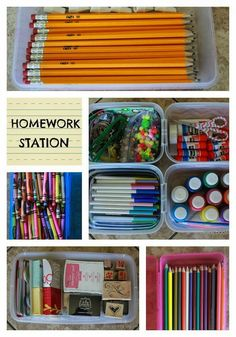 Back to School Homework Station by BD Designs PLUS 7 other Back to School Tips to keep you organized and happy!