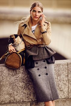 Ieva Laguna Dons Autumn Essentials for Alexander Neumann's L'Officiel Paris Story. Love the jacket