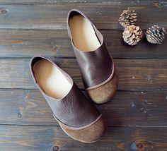 Marrón de zapatos hechos a mano zapatos Oxford zapatos