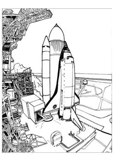 space shuttle coloring pages space shuttle color page