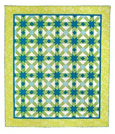 Hydrangea Blues Quilt Pattern -   Free PDF Download from Connecting Threads - I've wanted this pattern since it was a quilt kit way back when. I am so excited that they released it as a free PDF download so that I can make the quilt since I missed being able to buy the kit!
