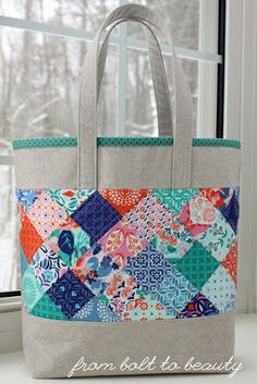I am a lover of precuts—jelly rolls, charm packs, and layer cakes all have their place in my stash and in my heart. I like having a cross-se. Charm Pack Quilt Patterns, Charm Pack Quilts, Charm Quilt, Bag Patterns To Sew, Tote Pattern, Quilted Purse Patterns, Sewing Patterns, Quilted Tote Bags, Quilted Gifts