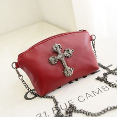 Trend women's handbag goths big alloy cross one shoulder cross-body bag small