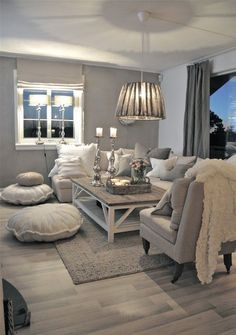 Gray Modern Shabby Chic living room ideas!!