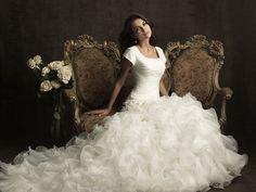 Stunning Modest Wedding Gown