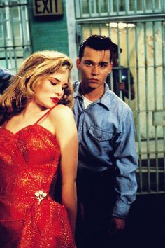 Amy Locane and Johnny Depp in John Waters 'Cry-Baby' 1990