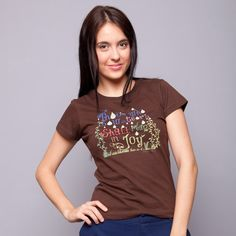 Those Who Sow In Tears Brown Tee