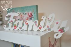 Family floral family sign by dreammachinework www.dreammachineworks.com