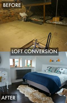 Loft Conversion Room Reveal - it's taken 4 months of hard work, but finally the attic room has been converted into a master bedroom and en-suite. So pleased with the final makeover look.