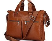 High Quanlity Men's Business Genuine Leather Briefcase Laptop Satchel Messenger Bag Handbag 7113B