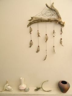 Unique Deer Antler Dream Catcher Natural by MerakiEffect on Etsy