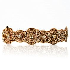 Bride Gold Champagne Crystal Rhinestone Diamond Headband Adjustable Nonslip Comfortable for Wedding * Be sure to check out this awesome product.