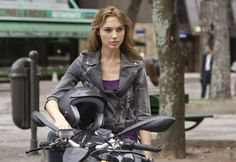 Gisele Harabo and the Ducati Streetfighter in Fast Five