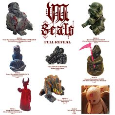 Full Reveal Poster of the 7 Seals Resin Blind Box Series