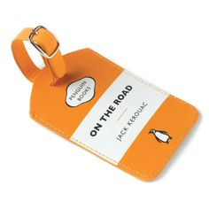 Oh how I need this on every bag I own: Penguin Books luggage tag, Jack Kerouac version.