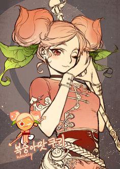 河CY sketchblog : peach cookie the newest cookie in cookie run...