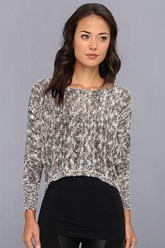 Gabriella Rocha Sparkle Sequin Hi-Lo Sweater