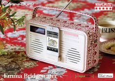 View Quest Emma Bridgewater Sampler Retro DAB+ radio, with lighting or 30 pin dock for charge & play function #ViewQuest #SoundStyle #EmmaBridgewater #sampler