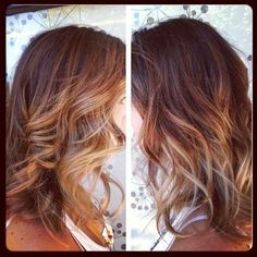 Sun kissed ombre