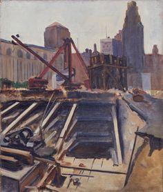 Calder - Untitled (Excavation), c. 1924, Oil on canvas.  Calder Foundation, NY