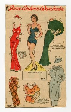 78.2383: Jane Arden's Wardrobe | paper doll | Paper Dolls | Dolls | National Museum of Play Online Collections | The Strong