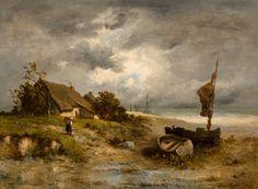 Léon Richet - Farm House by the Sea [1881] | Flickr - Photo Sharing!