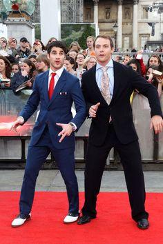 Darren Criss and Joe Walker (Harry Potter and Voldemort)