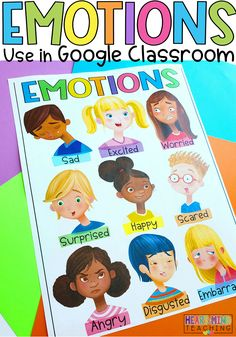 How to teach coping skills to kids? This workbook guides you through identifying emotions and coping strategies with this social-emotional learning activity covering 25 emotions. Identify feelings and emotions including Anger, Worried, Sad, Scared, Calm, and more. Includes a digital version for use with Google Slides and Google Classroom for digital learning, home school, online learning. #homeschool #copingskills Elementary School Counseling, School Counselor, Elementary Schools, Self Regulation Strategies, Counseling Quotes, Social Awareness, Social Emotional Learning, Feelings And Emotions, Google Classroom