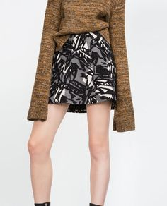 Image 2 of PATCHWORK MINI SKIRT from Zara