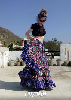 india Skirt boho freepeople style gypsy tribal fusion bellydance leheng 25 YARds #india