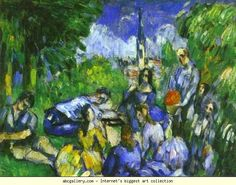 Paul Cézanne. A Lunch on Grass. Olga's Gallery.