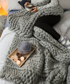 Weekend relaxation - snuggle up and be cosy in your handcrafted soft handmade merino wool blankets https://www.woolcouturecompany.com/product-category/diy-kit/blankets/ #giant #knitted #blanket #crochet #grey #yarn #wool #hygge #autumn #winter #homedecor #bedroom #livingroom #lifestyle #interiordesign #inspiration #relax #safespace #knit #knitters #knittersofinstagram #crochet #craft #crafters #crafthour #yorkshirehour #metime #crafturday #saturday #week