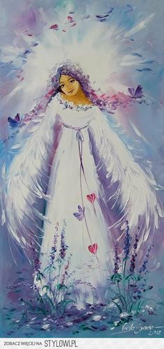 Bashful angel with a cute smile, hearts, flowers and butterflies. Anna Dittmann, Claudia Tremblay, Angel Quotes, I Believe In Angels, Prophetic Art, Angel Pictures, Angels Among Us, Angels In Heaven, Foto Art