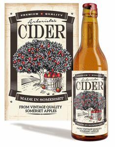 Vintage Packaging, Beverage Packaging, Cider Wine Recipe, Label Design, Packaging Design, Graphic Design, Homemade Cider, Bubble Drink, Root Beer