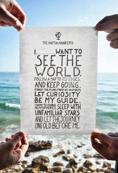 traveller's manifesto