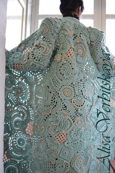 "Coat ""Mint patterns"""