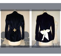Gather excess material on the back of a blazer and hold it with a pretty brooch to instantly take it in without sewing.