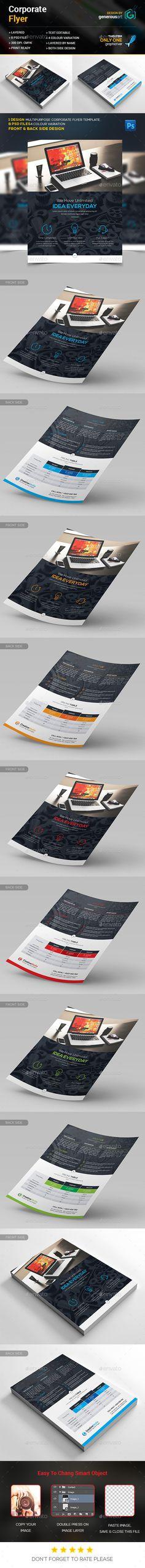 Flyer Template PSD #design Download: http://graphicriver.net/item/flyer/13818747?ref=ksioks