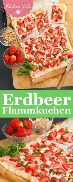 Rezept für süße Erdbeerflammkuchen