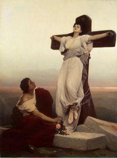 Christian Martyr on the Cross - St Julia, Gabriel von Max.jpg (Obraz JPEG, 1100×1482pikseli)