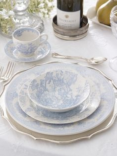 Ralph Lauren Charlotte place setting. Handmade by Burleigh in England. So pretty!