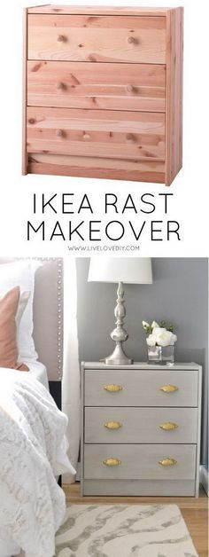 DIY Ikea Rast Makeover with Weathered Gray Wood Stain. Get the instructions