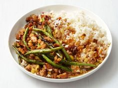 Great recipe and healthy. vjg Turkey and Green Bean Stir-Fry : Food Network Magazine's stir-fry is full of Asian flavors. Hold back on the chile paste or sambal for a milder dish. Quick Ground Turkey Recipes, Healthy Ground Turkey, Turkey Recipe Food Network, Food Network Recipes, Stir Fry Recipes, Cooking Recipes, Skillet Recipes, Cooking Food, Sauce Recipes