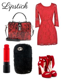 """""""🍂🍁🌹"""" by skatingbunnies ❤ liked on Polyvore featuring beauty, MAC Cosmetics, Jimmy Choo, Dolce&Gabbana and REDLIP"""