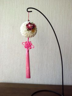 White Flower Ball Ornament/ Floral Hanging Decor/ by JagataraArt  https://www.etsy.com/listing/236821535/white-flower-ball-ornament-floral