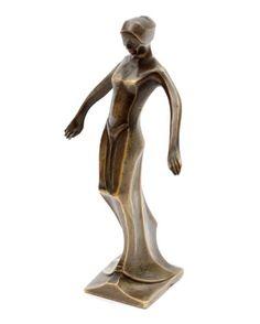 Bronzen sculptuurtje van een danseres ontwerp Cris Agterberg ca.1925