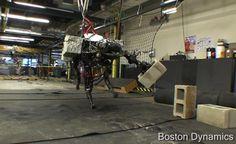 BigDog four-legged robot adds an arm